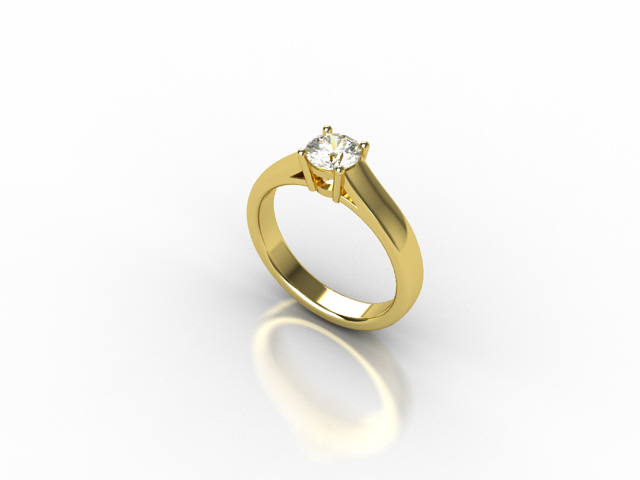 18 carat yellow gold with centre diamond